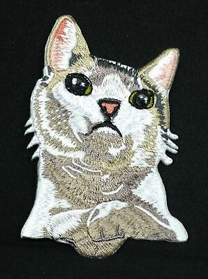 Embroidered Cat Kitten Pocket Patch Applique Badge Quality Iron On Cute Pet