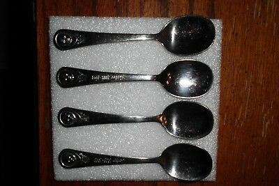 Vintage Lot Of Of(4)  Oneida Stainless Gerber Baby Spoons