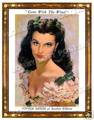 Gone With The Wind Lobby Portrait Card Poster 1939 Vivien Leigh Scarlett O'hara