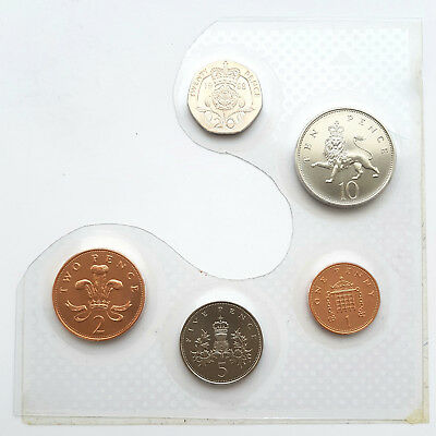 1982 - 2019 BUNC Set Of Small Coins 1p, 2p, 5p, 10p, 20p Brilliant Uncirculated