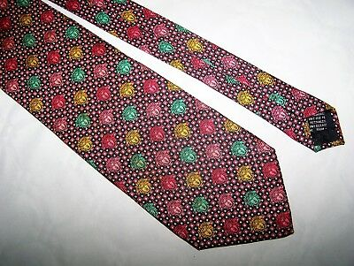 "Cravatta ""Gianni Versace""  100%  Silk Tie Made In Italy Vtg 80"