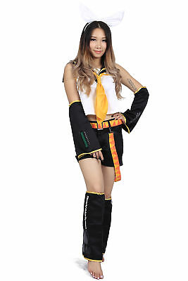 Vocaloid Family Mart Rin Cosplay Costume E001 Women's Costumes Anime Costumes