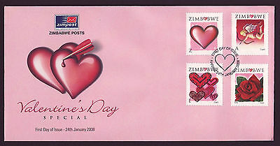 Zimbabwe 2008 Valentines, First Day Cover (FDC)