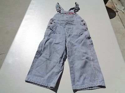Dickies Classic Fit Toddler NAVY STRIPE Duck Bib Overalls Size 3T NICE!