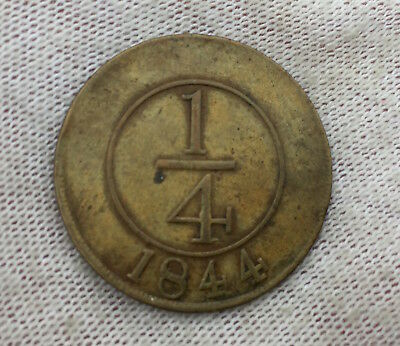 Dominican Republic 1/4 Real 1844