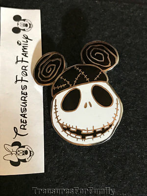 Disney Pin Nightmare Before Christmas Jack Skellington Mickey Ear Hat FREE SHIP