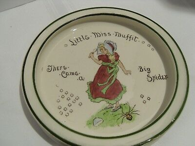 Antique Royal Doulton Nursery Ryme Childs Dish - Little Miss Muffit