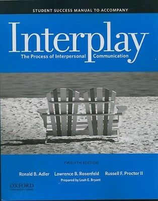 Interplay: The Process of Interpersonal Communication Proctor Adler 12th Edition