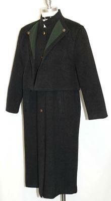 WOOL + CASHMERE Jacket Over COAT BLACK Austria Women Winter LONG WARM 14 L B44""