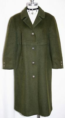 Loden BOILED WOOL Over Coat Jacket Women GREEN German SHORT SLEEVES ~ WARM 14 L