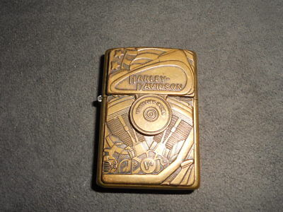 Harley-Davidson Brass Engine With Surprise  Eagle Zippo Lighter / Xiii