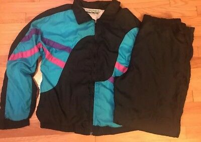 1990's Wind Suit Track Jogging Color Blocked Women's Sz XL TALL