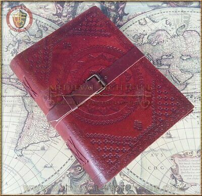 Double Leather Journal 25.5cm x 19cm - Buckle diary