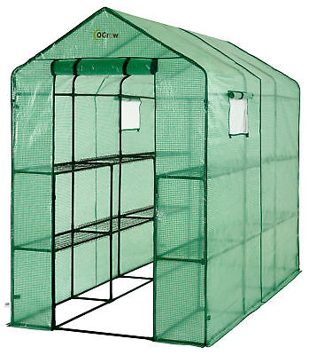Brand NEW Ogrow Heavy-Duty 2-Tier 12-Shelf Portable Lawn and Garden Greenhouse