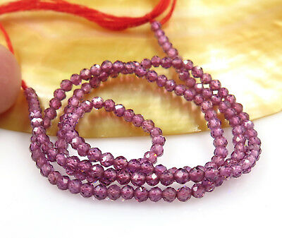 Rare Aaaaa Beautifulsparling Hot Purple Rhodolite Garnet Faceted Beads 12.9""