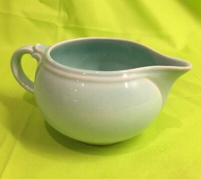 Vintage TS&T Lu-Ray Pastels Windsor Blue  Creamer Very Good #1047