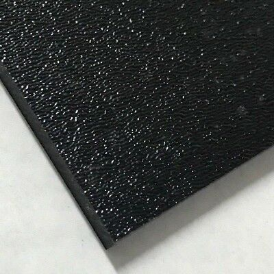 "ABS Black Plastic Sheet 1/16"" x 12"" x 12"" Textured 1 Side Vacuum Forming"