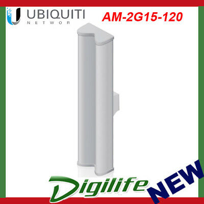 Ubiquiti Networks AM-2G15-120 2.4GHz 15dBi 2x2 MIMO BaseStation Sector Antenna