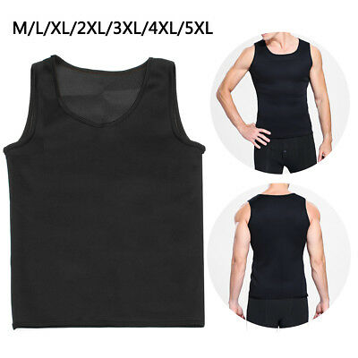 Men's Neoprene Slimming Vest Cami Hot Shaper Gym Women Sauna Sweat Thermal Belt