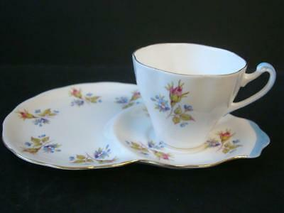 Roslyn China Rose & Forget Me Not Tv / Tennis Cup & Saucer