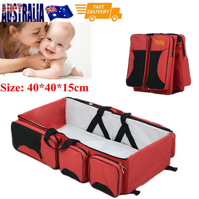 3 in1 Portable Baby Nursery Sleeping Bag Bassinet Infant Travel Bed Crib Cot Red