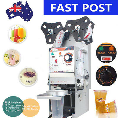 Automatic Cup Sealer Sealing Machine Coffee Boba Bubble Tea 450 Cups/Hour 2018