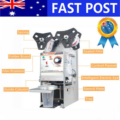 BABAN Automatic Cup Sealer Sealing Machine Coffee Boba Bubble Tea 450 Cups/Hour