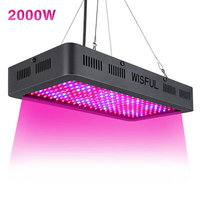 Led Grow Light Full Spectrum 2000W Double Chips Growing Lamps UV  for Hydroponic