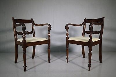 Pair of Best Quality Regency Antique Carver Armchairs.