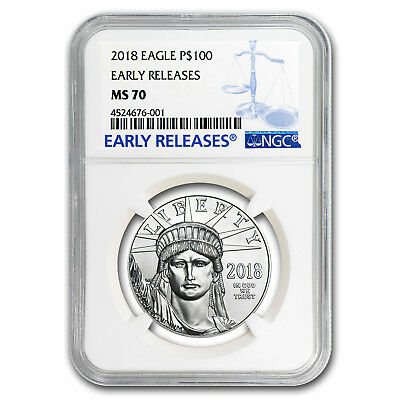 2018 1 oz Platinum American Eagle MS-70 NGC (Early Releases) - SKU#153270