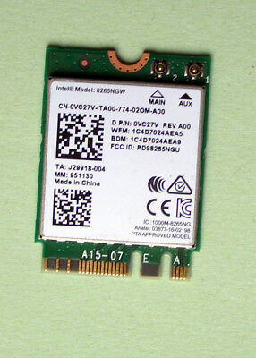 OriginaI Intel Dual Band Wireles AC8265 Model 8265NGW  867Mbps M.2 BT4.2 0VC27V