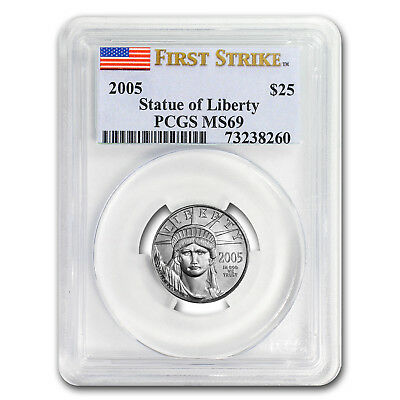 2005 1/4 oz Platinum American Eagle MS-69 PCGS (First Strike) - SKU#20522