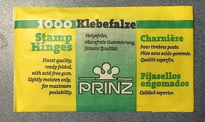 x4⭐️Packets of 1000 PRINZ Stamp Hinges - GREAT VALUE! + FREE DELIVERY!!⭐️⭐️⭐️