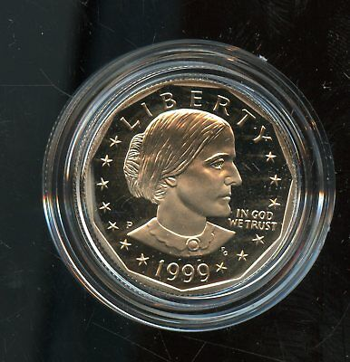 Fantastic 1999-P Proof Susan B. Anthony $1 Dollar Coin w/ CoA BR978
