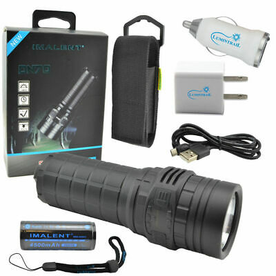 IMALENT DN70 3800 Lumen Compact Rechargeable Flashlight w/ USB Car+Wall Plugs