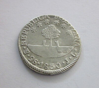 Bolivia Silver 2 Soles, 1830, KM 95a, Circulated, Uncertified