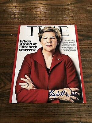 Elizabeth Warren In-Person Signed 8x10 Photo FULL NAME AUTO RARE! EXACT PROOF