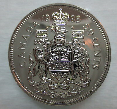1983 Canada 50 Cents Proof-Like Half Dollar Coin