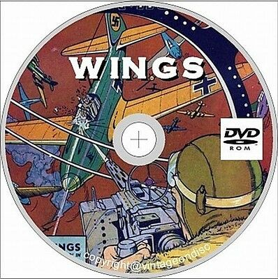 Wings Comics #1-124 on dvd, Golden Age, Aviation, Flight