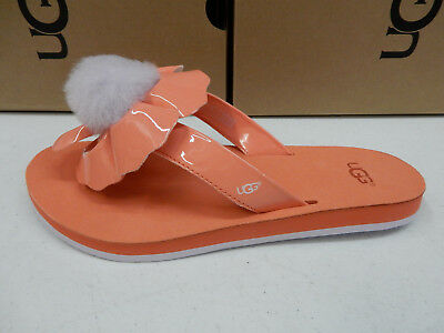 404f0ed0012 UGG FONDA SLIDE Seashell Pink Suede Bow Women s Sandals Size Us 7 uk ...
