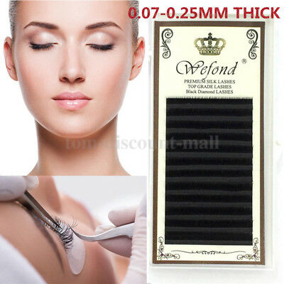 0.07 Russian Volume Lashes Individual Eyelash Extensions C D curl 10mm 11mm 12mm
