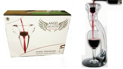 4pcs Modern Vineyard ANGEL Decanter Red or White Wine Aerating Aerator Pourers