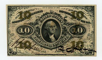 3rd Issue Fr.1254 10c United States Fractional Currency Note UNC
