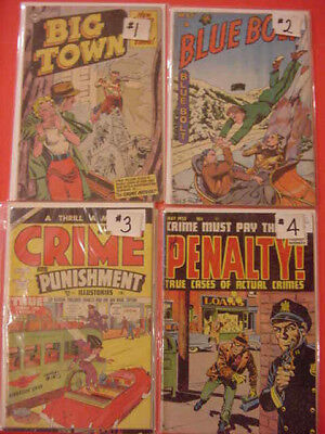 Big Town, Blue Bolt, Crime Detective, Dick Tracy, 4 Most Crime Comic, See Info