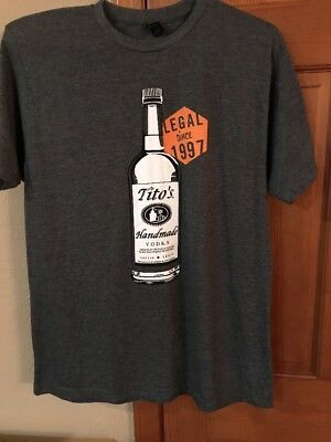 Titos vodka 20th Anniversary T shirt L