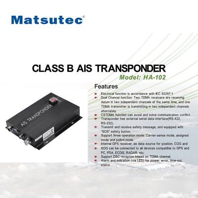 Matsutec HA-102 CLASS B AIS Transponder 2 Channels Function CSTDMA Function DI