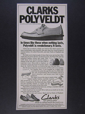 1976 Clarks of England Polyveldt Shoes vintage print Ad