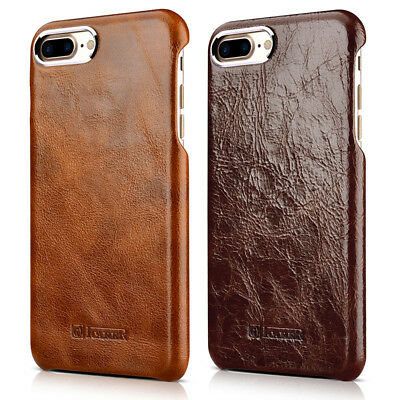 Men's iCarer Genuine Real Leather Case Covers Slim for iPhone 7 Plus