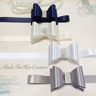 PVC Crystal Bowknot Wedding Bridal Dress Waist Band Beauty Kids Sash Belt Ribbon