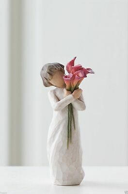 Willow Tree Figurine Bloom Girl Holding Calla lilies a By Susan Lordi  27159